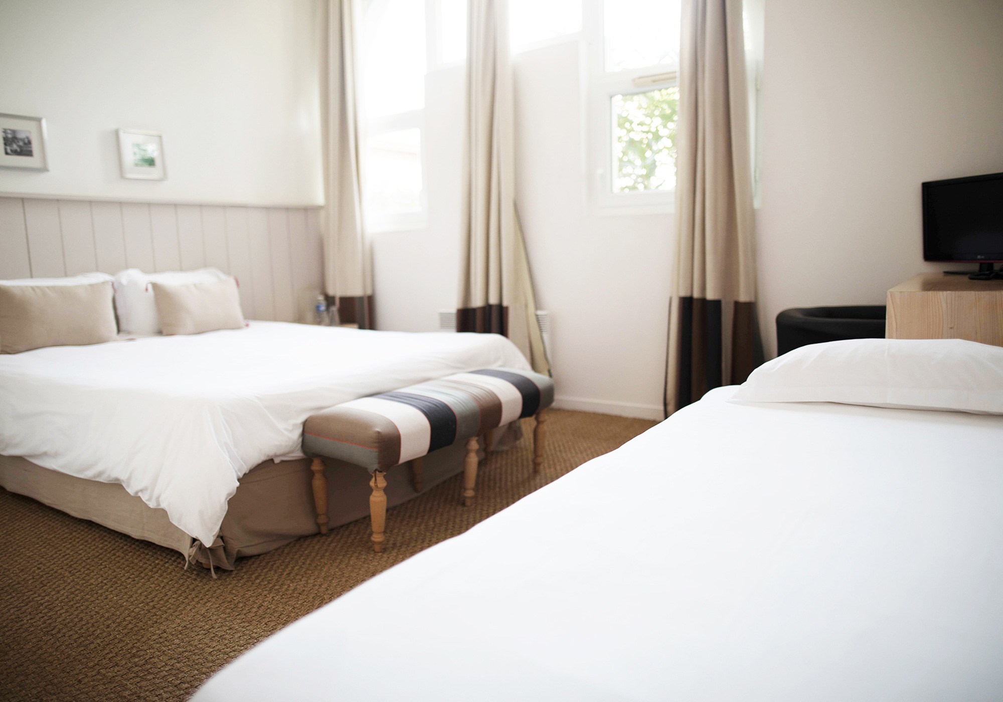 Chambre triple Hotel Boutique Messanges, Landes